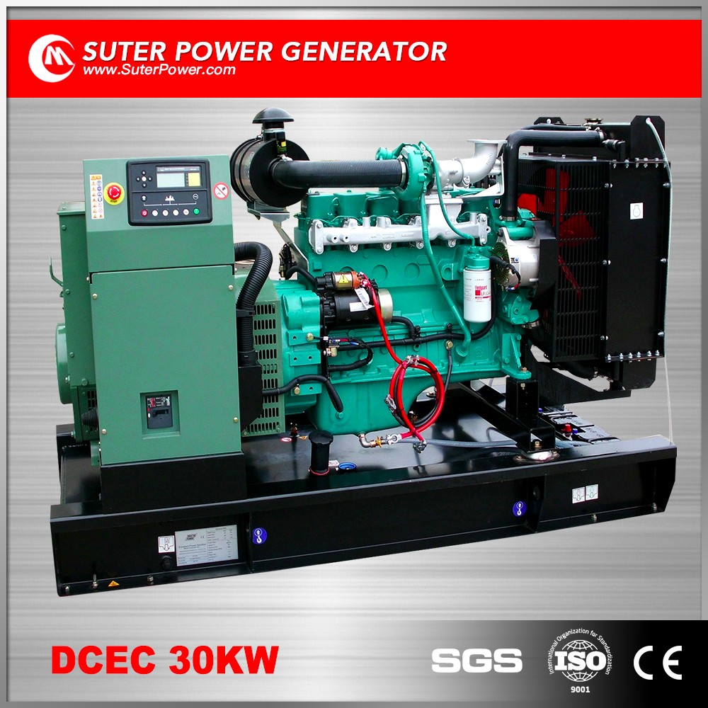 Low price 30kw diesel generating set by cummins engine for sale
