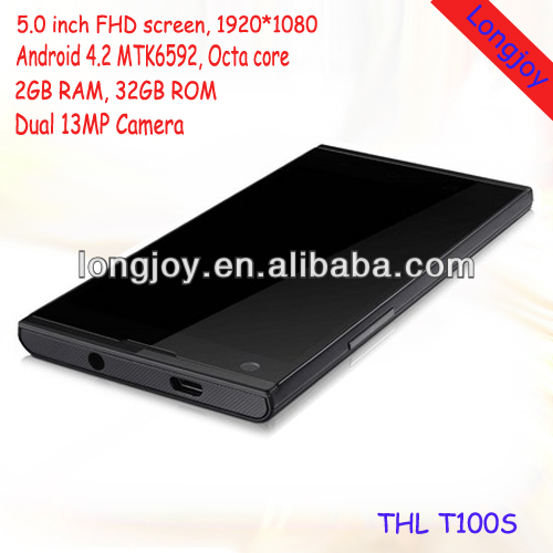 Hot sale ThL T100S MTK6592 Octa Core Smart phone 2GB RAM 32GB ROM NFC OTG