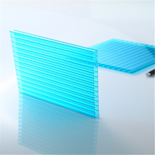 Two Walls Polycarbonate Hollow Panels UV Coating flameproof Anti-fog Treatment Lexan PC Resin Sheet