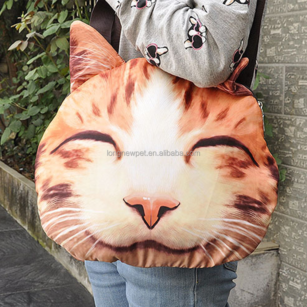 Wholesale 3D Cat Face Hand Bag Animal Shaped Shoulder Bag Cute Tiger Bag