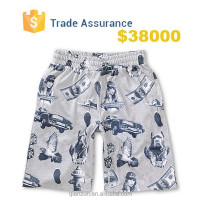 Custom blank board shorts fabric wholesale