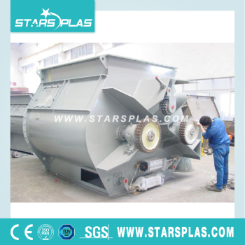 pvc plastic double Shaft Paddle mixer machine