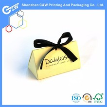 Cheap Small Foldable wedding gift paper bag with Bows ribbon