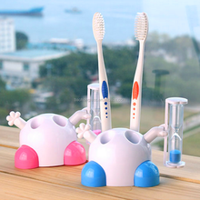 3 minutes mini lovely tooth brush sand timer holder sand clock for kids