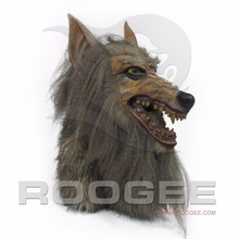 Realistic Full Head Animal Wolf Latex Mask For Accourement Party Cosplay