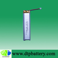 High performance 560mah 3.7v slim light batteries