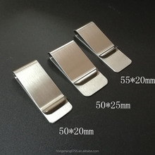 Custom Logo High Quality Stainless Steel Metal Blank Money Clip