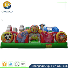 used commercial indoor PVC inflatable animal bouncers for sale / toddlers inflatable jumping playground bouncy castles for kids