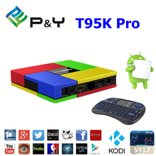 New brand 2016 T95K Pro s912 2G 16G android 6.0 marshmallow smart tv tuner box for wholesales dual WIFI KODI TV BOX