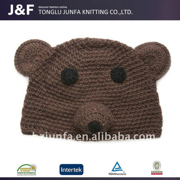 2015 Latest Lady Fashion crochet bear beanie