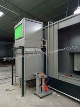 Powder Coating Booth with double position Buit-in Recovery system