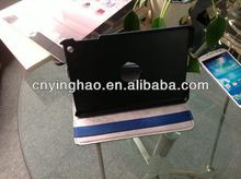 New style best sell 3 folded leather cover for mini ipad