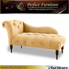 bottom living room lounge chaise fabric sofa bed Upholstered lounge PFS5848