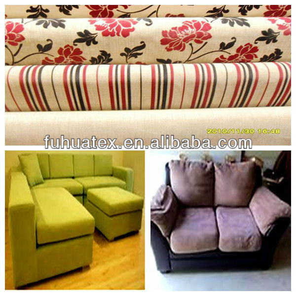 2013 Newest 100% Polyester 75D Flocked Pongee Fabric in China with Plain design widely use for Sofa and Seat covers