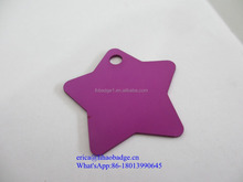 Hot sale star shape funny custom OEM dog tag