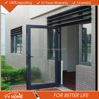 New design aluminum double glass 2 way swing door