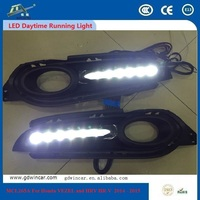White 5 Led Daytime Running Light Drl Car Fog Drl Lamp Clear Lens For Honda Vezel And Hrv Hr - v 2014 - 2015