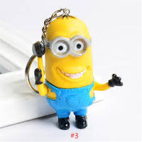custom high quality silicon/pvc keychain Minions