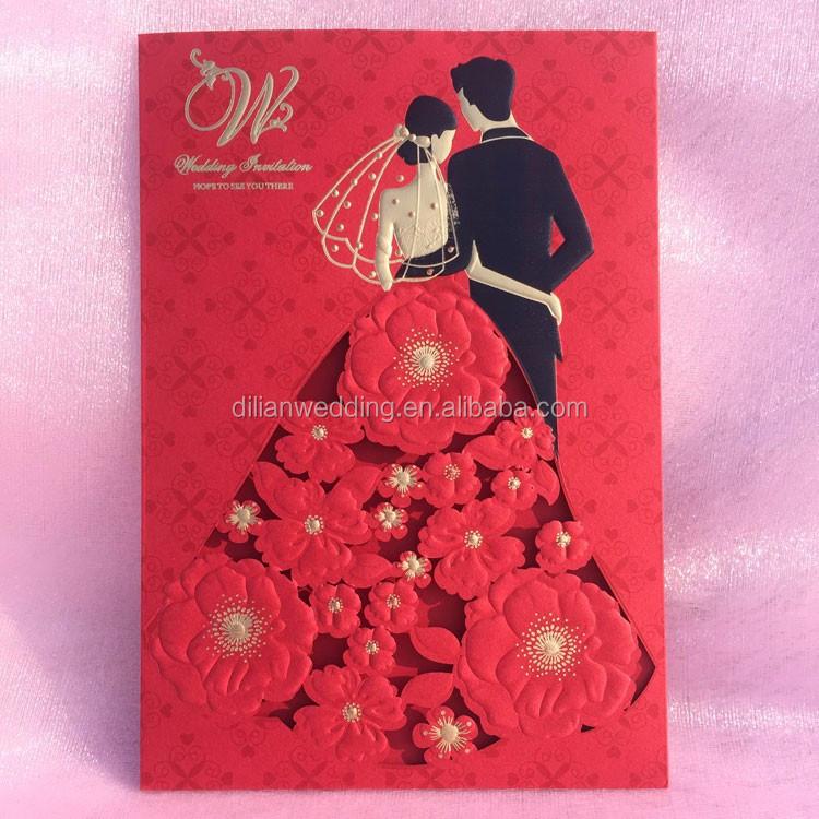 Hot Pink Royal Blue Wallet Shape Latest Wedding Card Designs