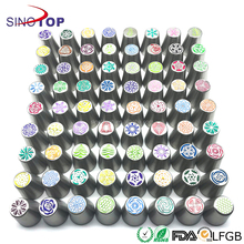 Russian Piping Tips 220 pcs Icing Tips Cake Decoration tips Set DELUXE Cake Piping Icing Nozzles Custom Baking Supplies