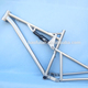High end full suspension titanium fat bike frame 26 inches 4.8 tires 120mm travel fatbike frame