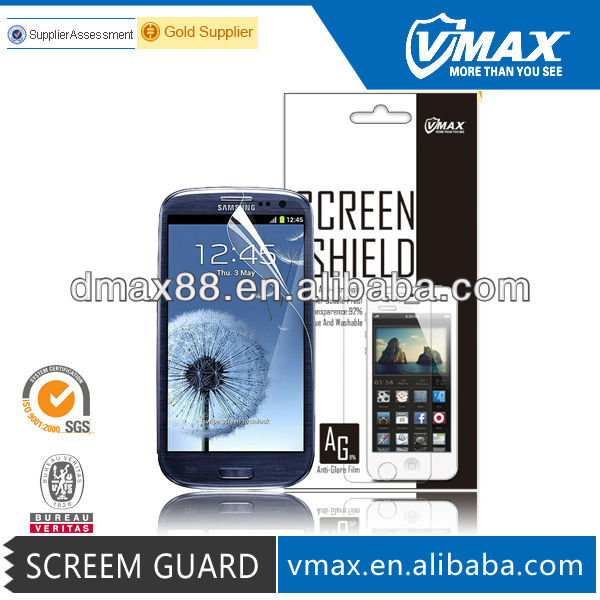 Matt finish screen protector/scre guard for Galaxy samsung S3/I9300