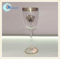 cheap gold rimmed wine glasses factory china