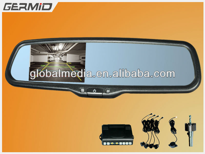 OEM replacement 3.5 inch rearview mirror lcd monitor special for Hyundai ix 35, ix20, Kia sorento