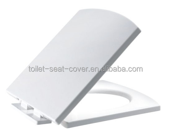 European standard square PP toilet seat lift for sanitary fixtures