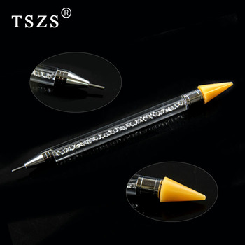 TSZS Double Different Head Picker Wax Pencil Dotting Pen Rhinestone Pick Up Remove Tool Manicure Gem Pick Up Applicator Tool