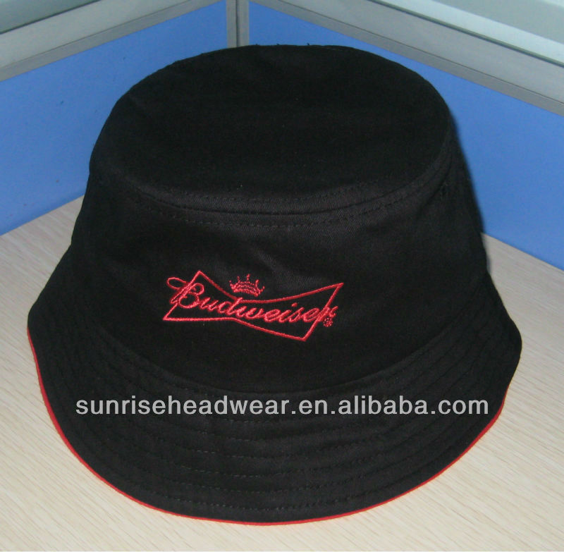 custom high quality brushed cotton bucket hat