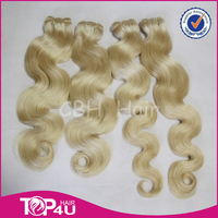 Top quality 7A honey blonde peruvian hair body wave hair weaving