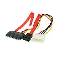 SATA Combo 15 Pin Power and 7 Pin Data Cable 4 Pin Serial ATA Lead