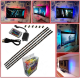 5050 Flexible TV Backlight 5v USB LED Strip wth 2 RGB Multi Color Led Light Strip,3 Wire Mounting Clips,4 Pre-Cut One Foot Strip