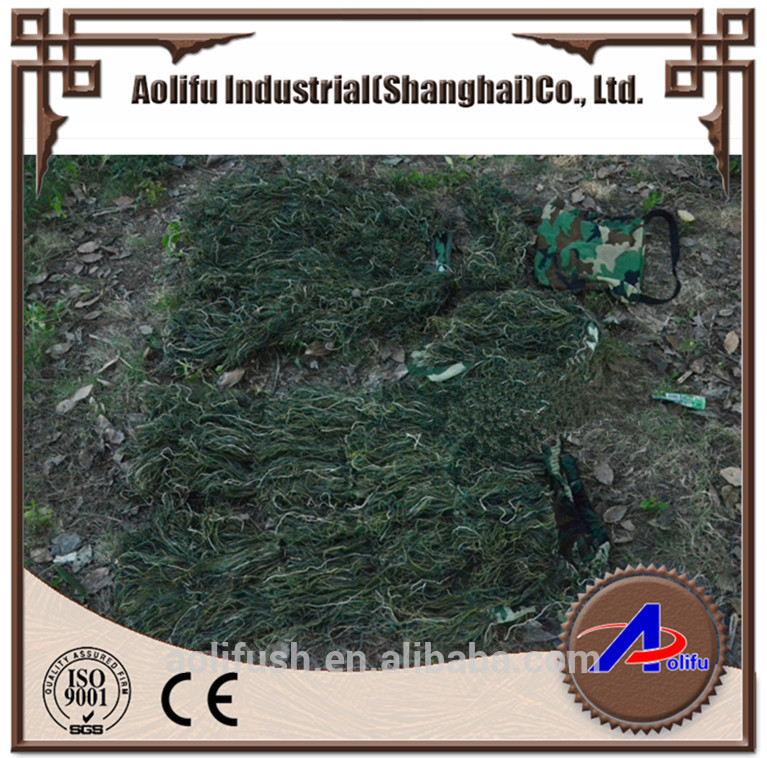 Aolifu o1013 military camo camouflage clothing Ghillie Suit green leaf suit