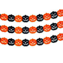 Spooky Scary Paper Hanging Garlands Halloween Decoration -pumpkin design