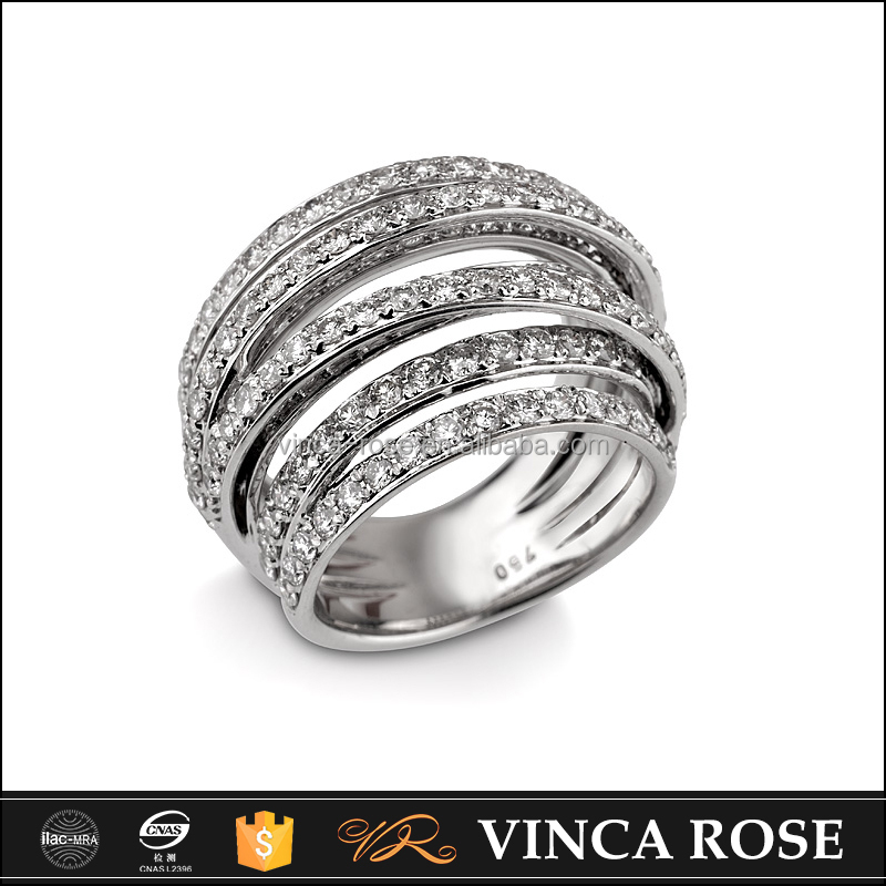 On sale Pave setting Fashionable Plated Diamond Gold 18K young boy ring