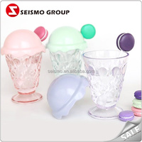 Summer Hot Sale Cute Reusable Plastic Ice Cream Cups