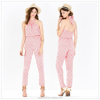 top quality beautiful halter neck jumpsuits for women 2015
