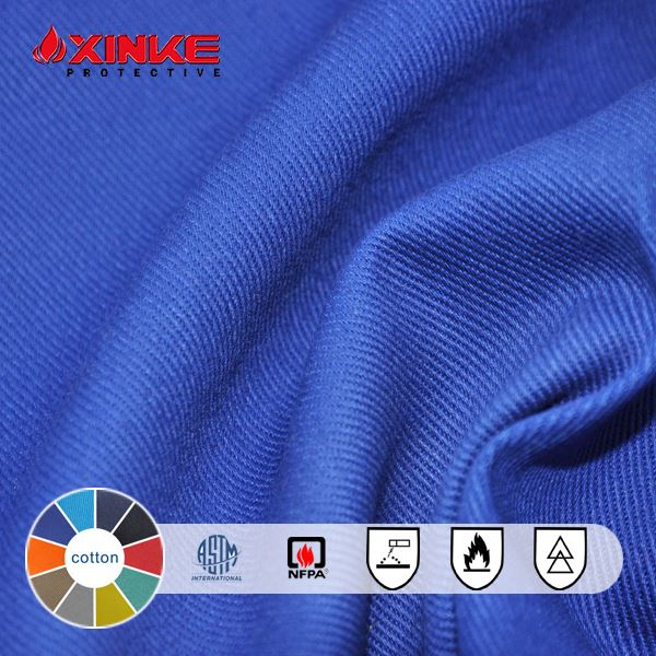 210gm2 fr cotton fabric for gas&oil suit