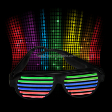 Promotion Gift Voice Controlled Party Glasse/Party Shutter Shades Led Light Up Glasses