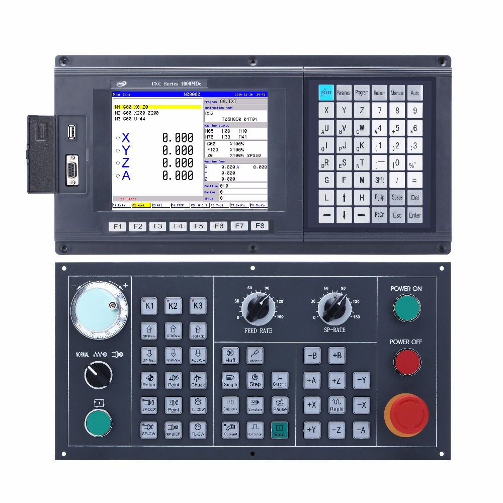 highly cost-effective 3 axis cnc milling controller for cnc machinery with ATC and PLC
