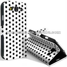 fancy polkadot leather case bag for Samsung Galaxy S3 I9300