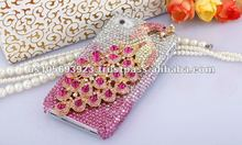 Super Luxury Crystal Bling Diamond Case Cover For Apple Iphone4S 4G With Retailer Fashion Boxes 12 Colors