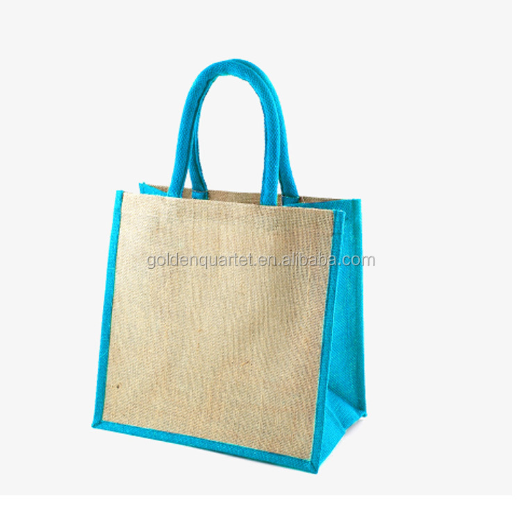 2017 Linen shopping bag with canvas contrast, eco friendly linen shopping bag(SA8000, SMETA, BSCI audited factory)