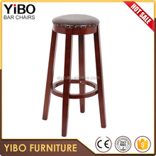 china supplier round high bar stools wood bar chair