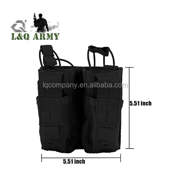Military Double M4  Pouch Pistol Open Top Mag Bag