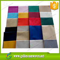 Customized Non woven Felt /Fabric for Coloring Waterproof Non-woven Tablecloth, pp spunbond disposable non-woven tablecloth