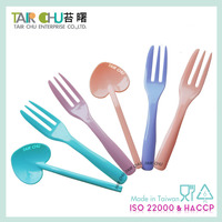 Colorful Disposable Plastic Small Forks For Fruit & Appetizer Fork