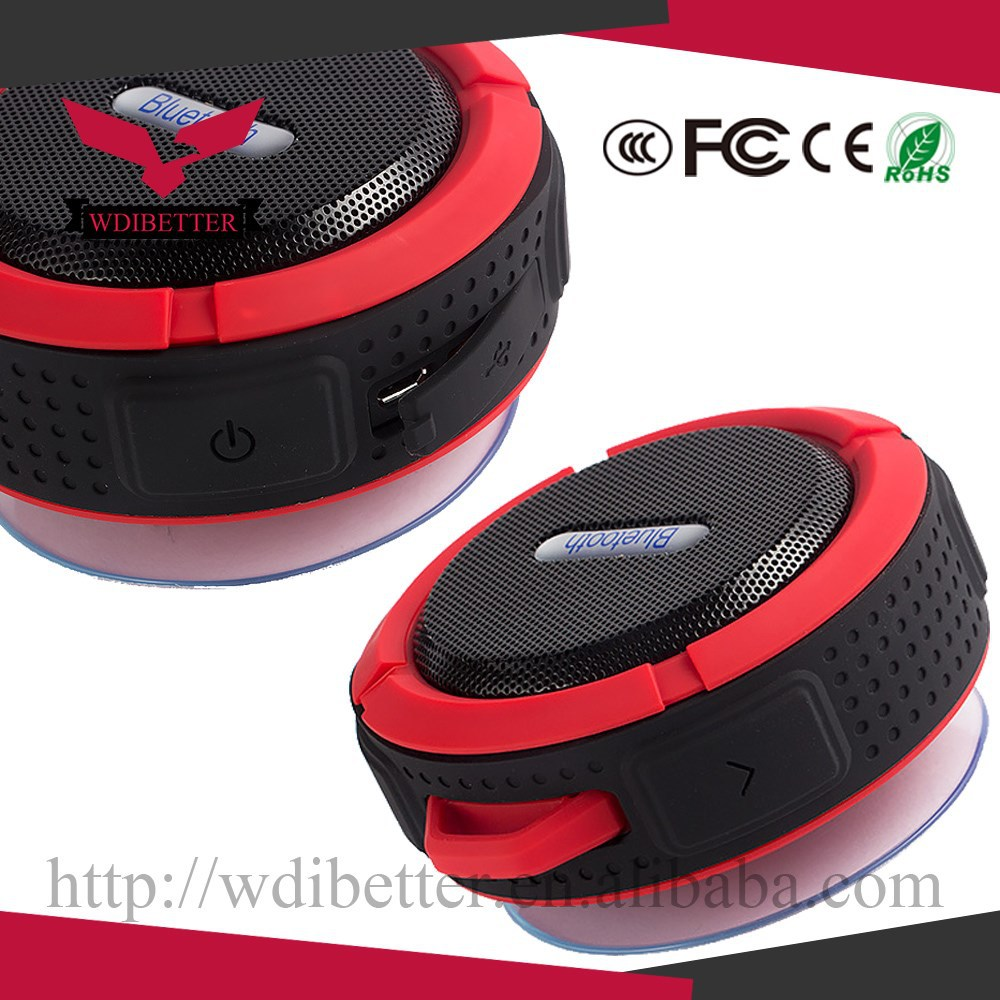 2015 Unique Electronic Gadgets, Waterproof Bicycle Bluetooth Speaker With Flashlight FM Radio